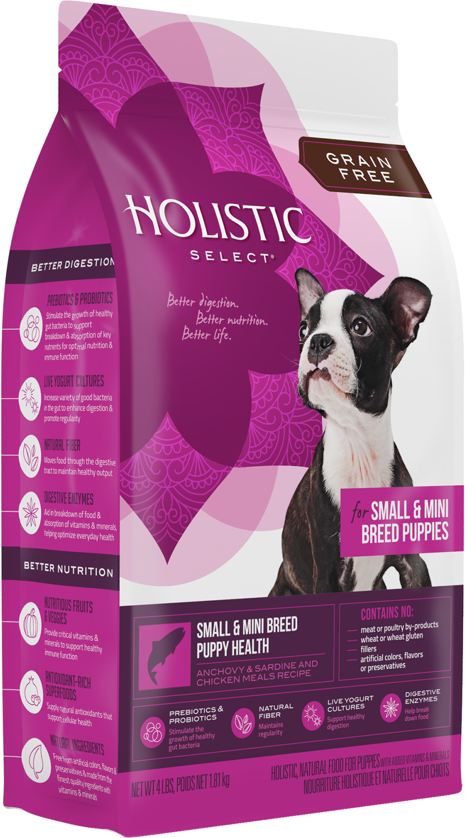 Holistic Select Grain Free Puppy Small and Mini Breed Dry Food