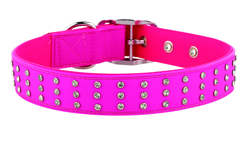 Pink Dog Collar With Bling