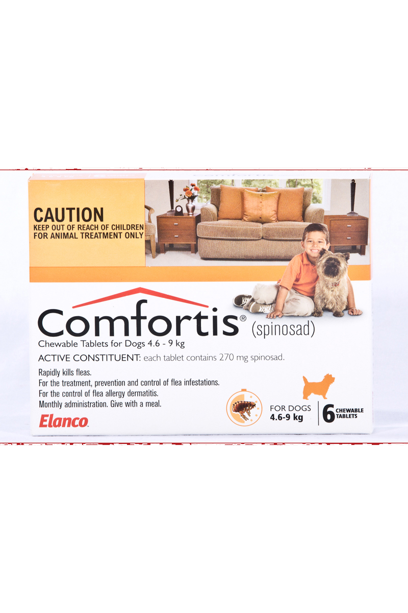Pets Love Zone Comfortis Dog Flea Treatment Orange