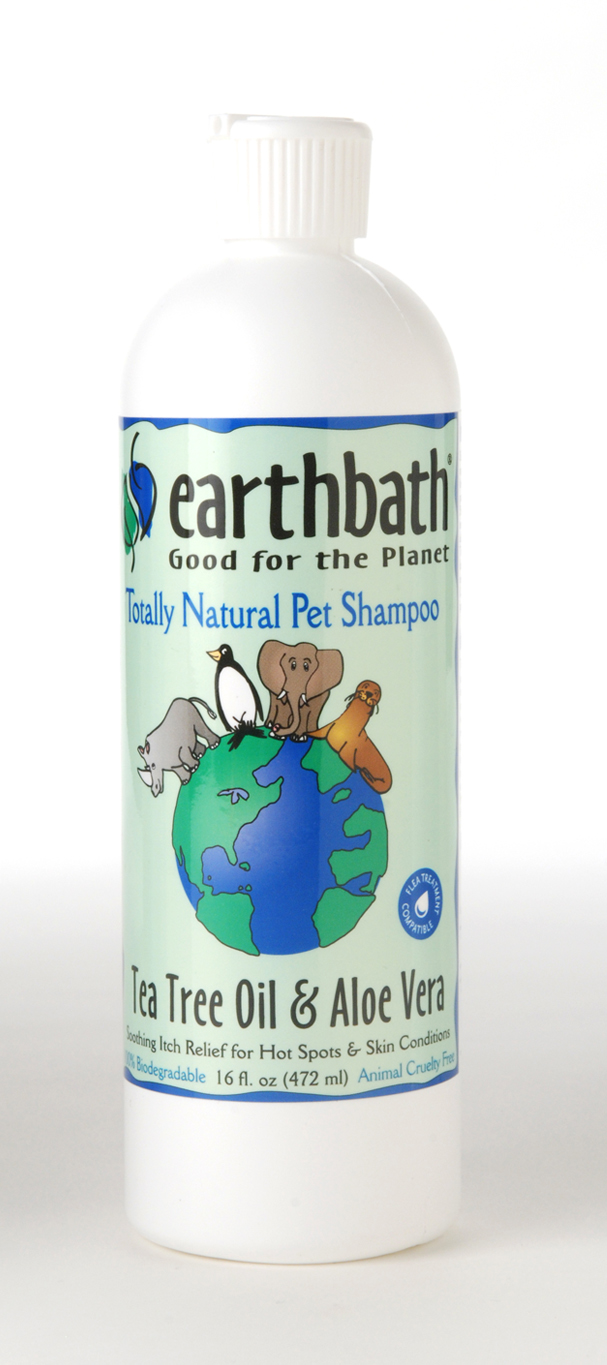 pets love zone earthbath tea tree aloe vera pet shampoo 473ml pets love zone. Black Bedroom Furniture Sets. Home Design Ideas