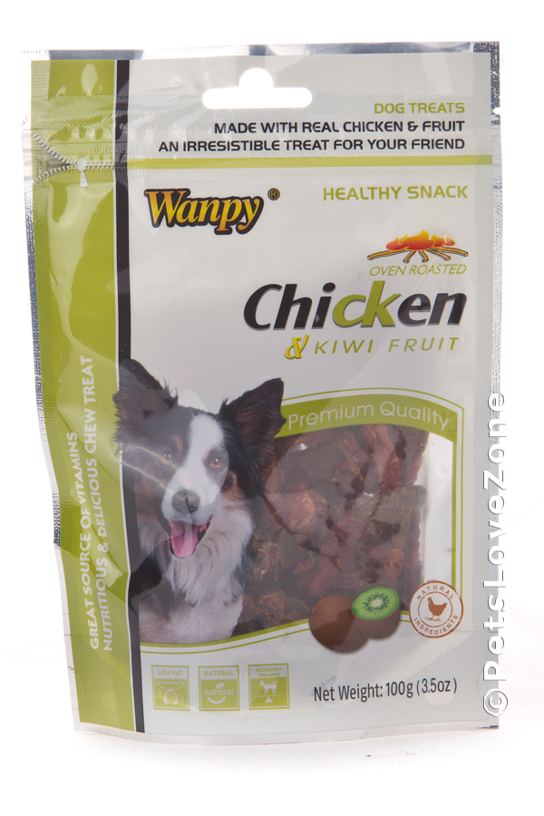 Dog Wanpy Chicken Jerky with Kiwi Fruit