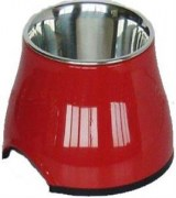 Dogit 2 in 1 Elevated Dog Bowl Red