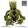 Fuzzyard Dog Toy - Scratchy Jumbo Flea Green