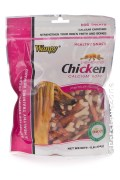 Dog Wanpy Dry Chicken Jerky Wrap on Calcium Bone