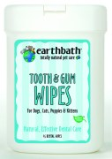 Earthbath Tooth and Gum Pet Wipes