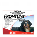 frontline plus extra large dog red
