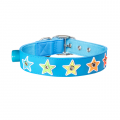gummi-flashing-star-collar-blue