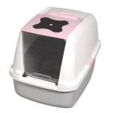 Deluxe Hooded Cat Pan Pink and White