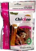 Wanpy Dry Chicken Jerky Wrap on Calcium Bone