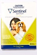 Sentinel Small Dog Flea and Wormer treatment