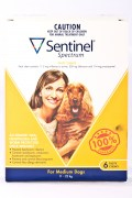 Sentinel Medium Dog Flea and Wormer treatment