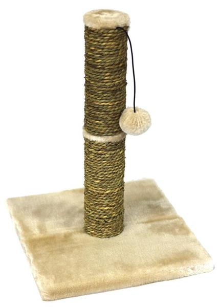 PaWise Seagrass Cat Scratch Post with Play Ball